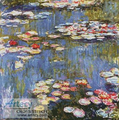 cross stitch pattern Waterlilies