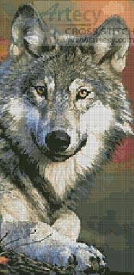 cross stitch pattern Wolf 2