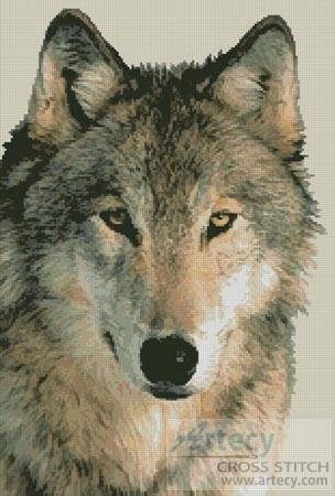 cross stitch pattern Wolf 3