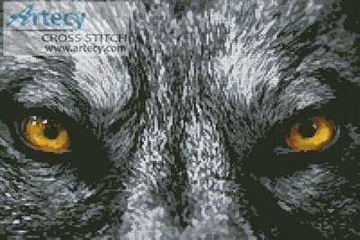 cross stitch pattern Wolf Eyes