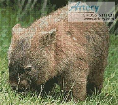 cross stitch pattern Wombat 2