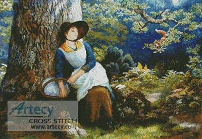 cross stitch pattern Asleep in the Woods