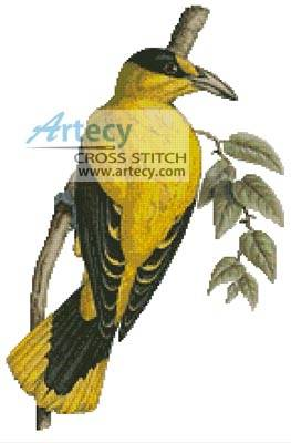 cross stitch pattern Yellow Bird