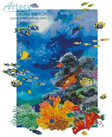 cross stitch pattern Yellow Reef
