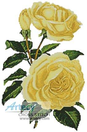 cross stitch pattern Yellow Roses