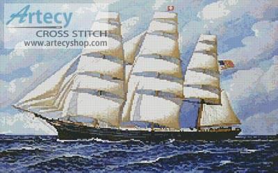cross stitch pattern Young America