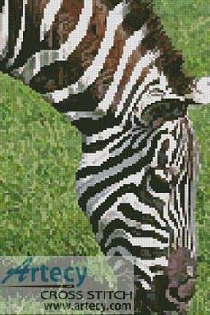 cross stitch pattern Zebra Eating
