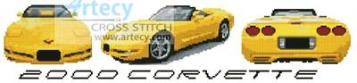 cross stitch pattern 2000 Corvette