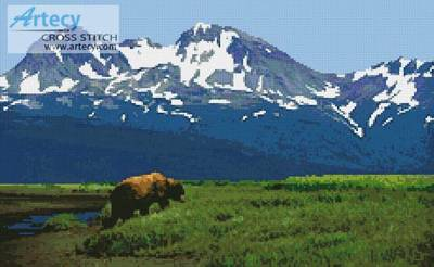 cross stitch pattern Alaska 2