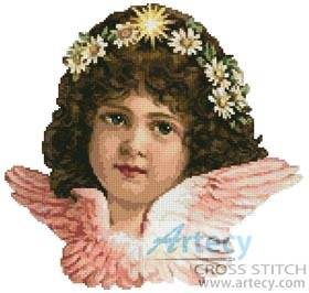 cross stitch pattern Angel Girl 2