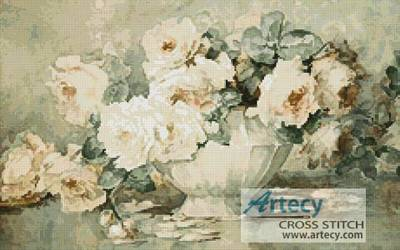 cross stitch pattern Antique Roses