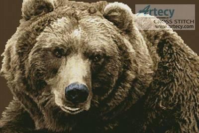 cross stitch pattern Brown Bear