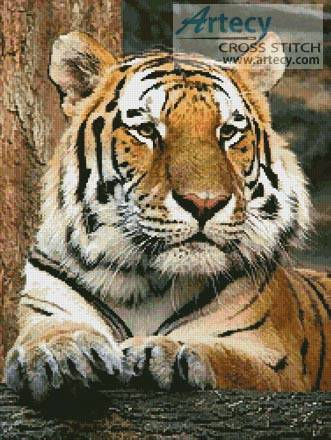 cross stitch pattern Bengal Tiger 4
