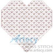 cross stitch pattern Blackwork Heart