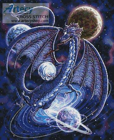 cross stitch pattern Celestial Dragon