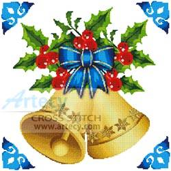 cross stitch pattern Christmas Bells
