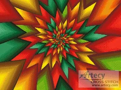 cross stitch pattern Christmas Fractal