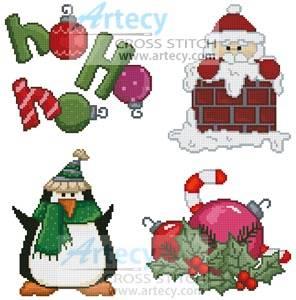 cross stitch pattern Christmas Motifs 7
