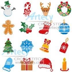 cross stitch pattern Christmas Motifs 8