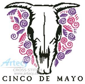 cross stitch pattern Cinco de Mayo