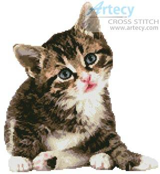 cross stitch pattern Cute Little Kitten