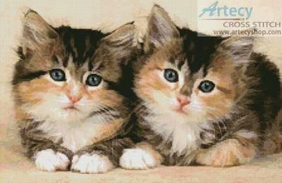 cross stitch pattern Cute Kittens