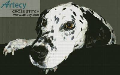 cross stitch pattern Dalmatian