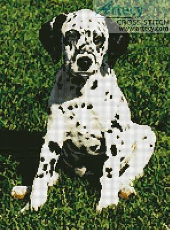 cross stitch pattern Dalmatian Puppy