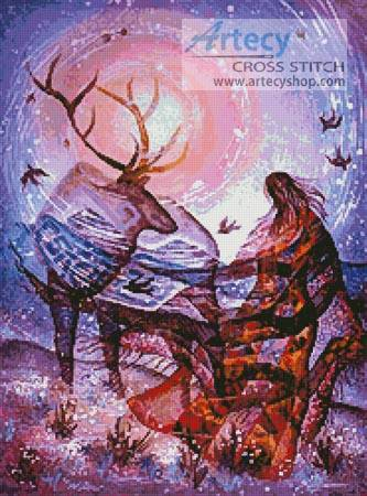 cross stitch pattern Elk Vision