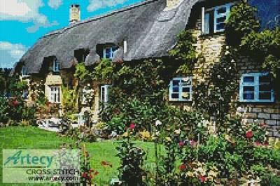 cross stitch pattern English Cottage 2