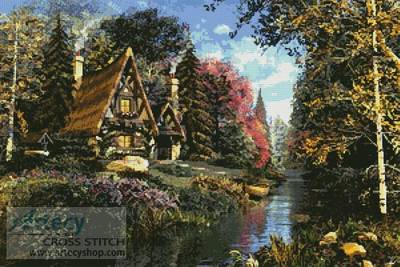 cross stitch pattern Fairytale Cottage