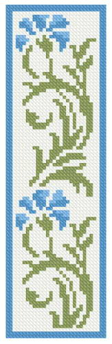 cross stitch pattern Floral Bookmark 3
