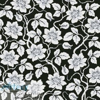 cross stitch pattern Floral Cushion