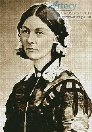 cross stitch pattern Florence Nightingale