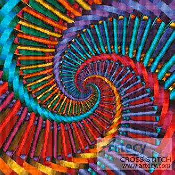cross stitch pattern Fractal Spiral