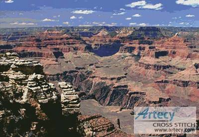 cross stitch pattern Grand Canyon