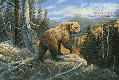 cross stitch pattern Grizzlies Domain