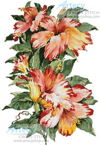 cross stitch pattern Hibiscus 2