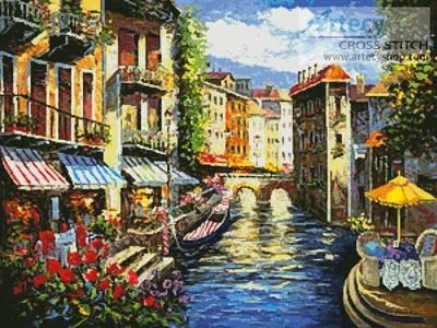 cross stitch pattern Italian Love Song