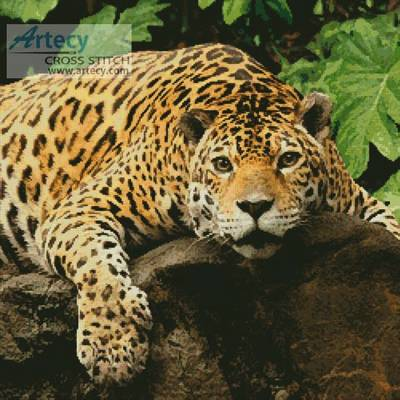 cross stitch pattern Jaguar