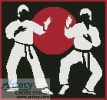cross stitch pattern Karate