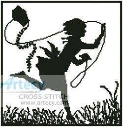 cross stitch pattern Kite
