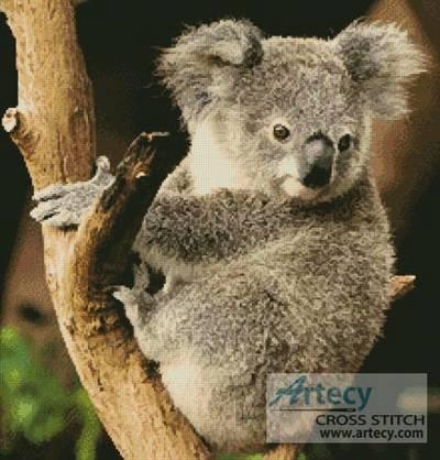cross stitch pattern Koala on a Branch