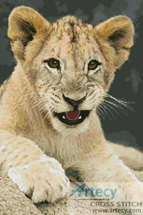 cross stitch pattern Lion Cub 3