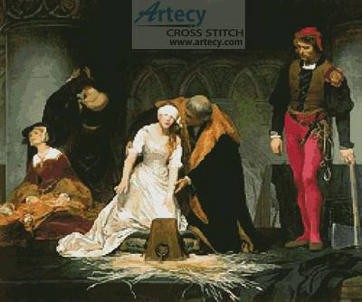 cross stitch pattern The Execution of Lady Jane Grey