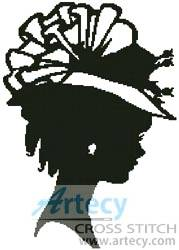 cross stitch pattern Lady Silhouette 7