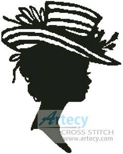 cross stitch pattern Lady Silhouette 8