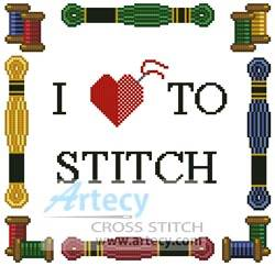 cross stitch pattern Love to Stitch