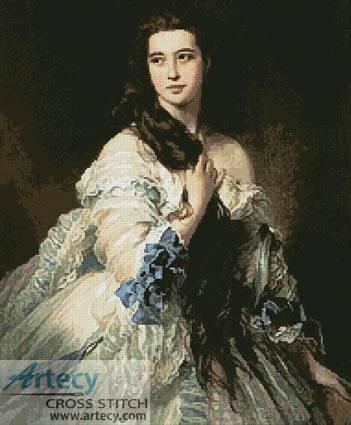 cross stitch pattern Madame Barbe de Rimsky Korsakov