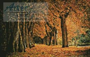 cross stitch pattern Mini Autumn Landscape